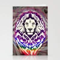Lion Psychedelic Pop Art Stationery Cards