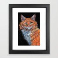 Red Cat P019 Framed Art Print