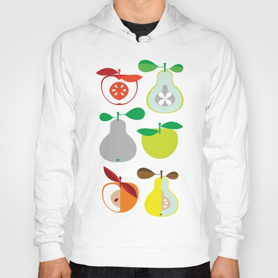 Apples and Pears / Geometrical 50s pattern of apples and pears Hoody