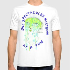 One spectacular meltdown at a time Mens Fitted Tee SMALL White