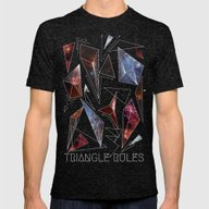 TRIANGLE RULES Mens Fitted Tee Tri-Black SMALL