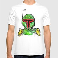 Boba Mens Fitted Tee White SMALL