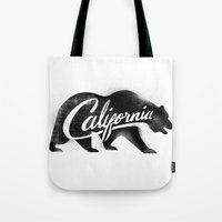 California Bear Stamp Tote Bag