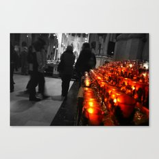 Light A Candle For The Loved And Lost Canvas Print