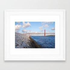 April bridge in Lisbon Framed Art Print