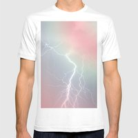 Lightning  Mens Fitted Tee White SMALL
