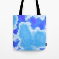 powder blue and indigo sky Tote Bag