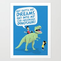 my car-nivorous dinosaur Art Print