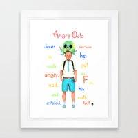 Angryocto - Joun's Math grade Framed Art Print