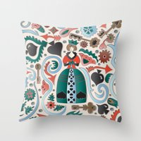 Queen Of Spades Throw Pillow