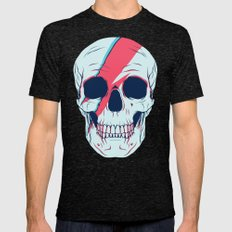 Bowie Skull Mens Fitted Tee Tri-Black SMALL