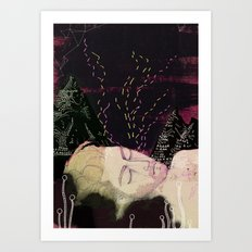 Midsummer night Art Print