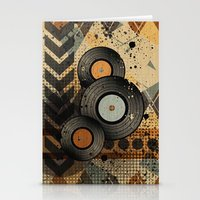 Retro Vinyl. Stationery Cards