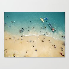 People at the beach Canvas Print
