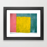 Pink + Yellow + Blue Framed Art Print