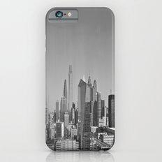 Black and White Philadelphia Skyline iPhone 6 Slim Case