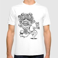 Chill Out Man Mens Fitted Tee White SMALL