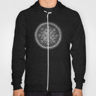 White Flower Mandala On … Hoody