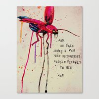 Brightest Little Firefly Canvas Print