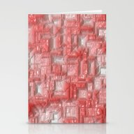 Peppy Crystals Red Stationery Cards