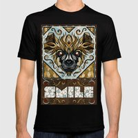 Smile Mens Fitted Tee Black SMALL