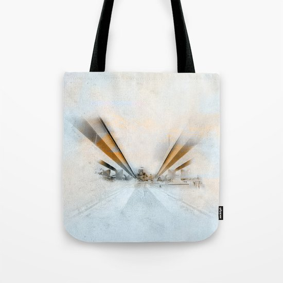 The golden hour of the future Tote Bag