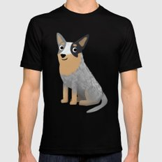 Cattle Dog - Cute Dog Series Black Mens Fitted Tee SMALL
