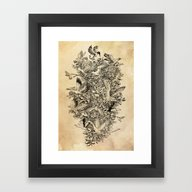 Blooming Flight Framed Art Print