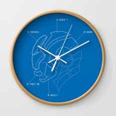 Heroes Are Built Wall Clock