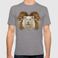 Lions led by a lamb Mens Fitted Tee Tri-Grey SMALL