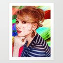 Scarlett Threading Art Print
