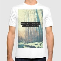 Wander Aimlessly  Mens Fitted Tee White SMALL