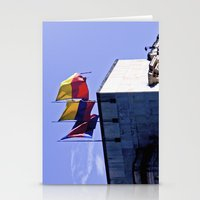 Monument Of Flags. Stationery Cards