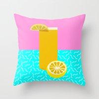 Lemonade /// www.pencilmeinstationery.com Throw Pillow