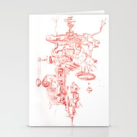 Abstract Lines, Linear P… Stationery Cards