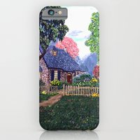 iPhone & iPod Case featuring Essex House Cottage by Ave Hurley by ArtRaveSuperCenter: Ave Hurley Illustrat