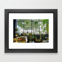 Records and Plants Framed Art Print