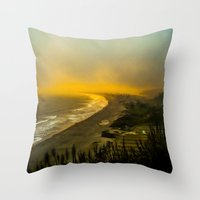 The evening as seen from the bluff  Throw Pillow