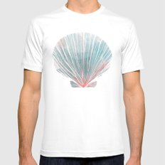 Shell Mens Fitted Tee SMALL White