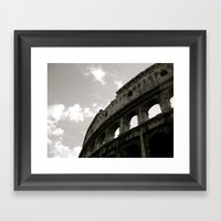 The Curve Of The Colloseum Framed Art Print