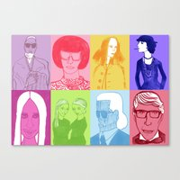 Faces Of Fashion Part De… Canvas Print