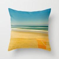 Beach & Bucket  Throw Pillow