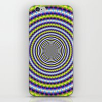 Toothed Rings In Blue An… iPhone & iPod Skin
