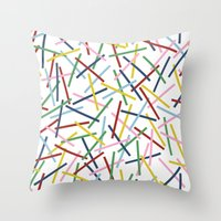 Kerplunk 15 Throw Pillow