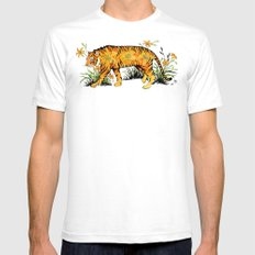 Tiger Lily  Mens Fitted Tee White SMALL