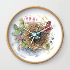 Robin's Nest Wall Clock