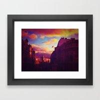 London Sunset Framed Art Print