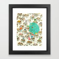 Ellie The Elephant Framed Art Print