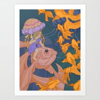 Deep Sea Stroll Art Print