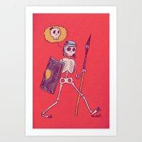 Skelie Art Print